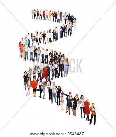 Business Idea People in Queue