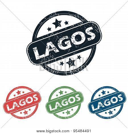 Round Lagos city stamp set