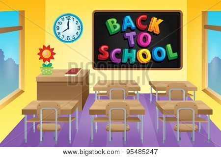 Classroom theme image 4 - eps10 vector illustration.
