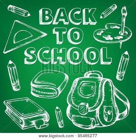 Back to school thematic image 7 - eps10 vector illustration.