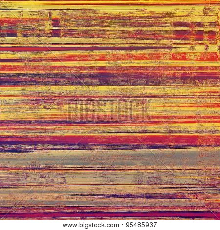 Aged grunge texture. With different color patterns: yellow (beige); gray; purple (violet); red (orange)