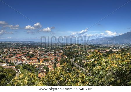 Panoramic view of Spoleto. Umbria.
