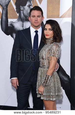 LOS ANGELES - JUN 25:  Channing Tatum & Jenna Dewan-Tatum arrives to the