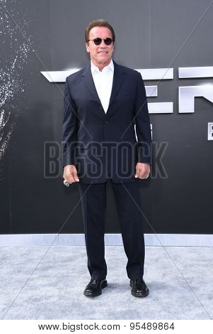 LOS ANGELES - JUN 28:  Arnold Schwarzenegger arrives to the