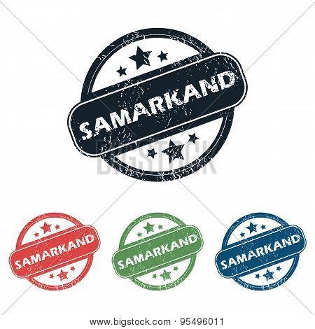 Round Samarkand city stamp set