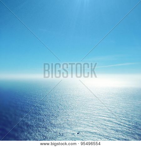 Pacific sea and blue sky
