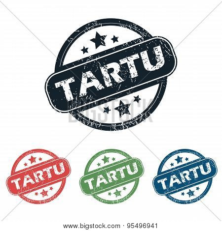 Round Tartu city stamp set