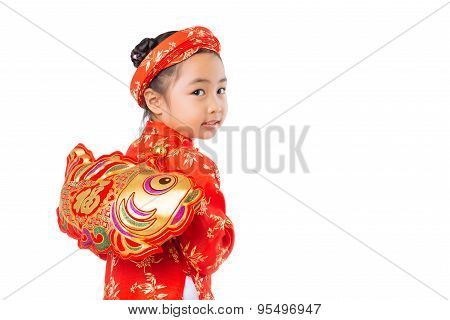 Girl With Tet Decoration