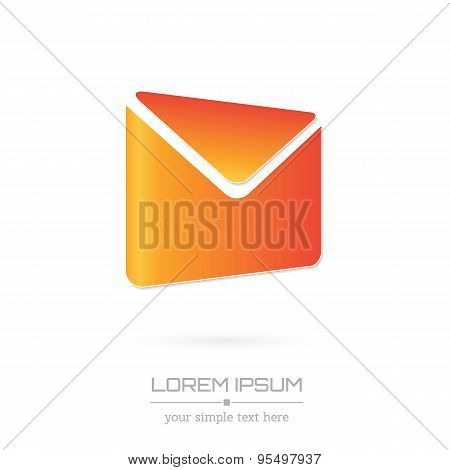 Creative concept vector icon of envelope for Web and Mobile Applications isolated on white backgroun