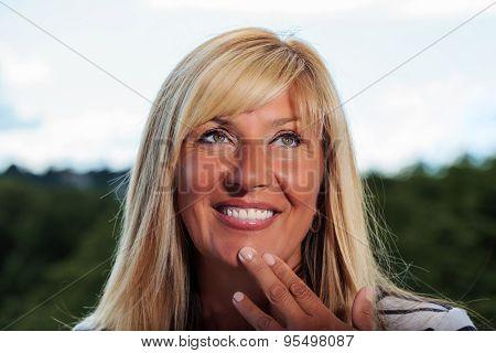 Mature Woman Daydreaming