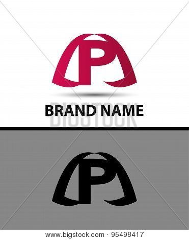 Logo p letter Vector illustration