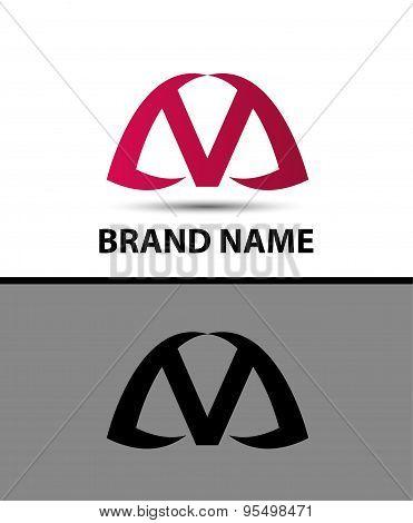 Letter v logo icon design