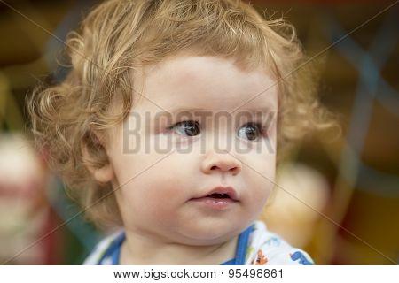 Cute Baby Boy Closeup