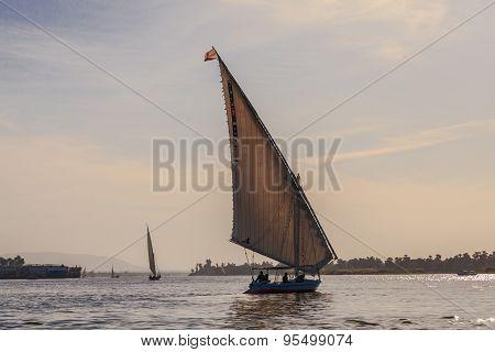 Faluka On The Nile River