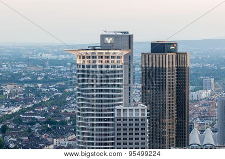 Westend Tower In Frankfurt Main