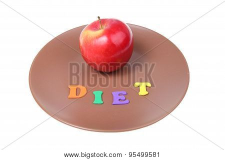 Word Diet And Red Apple