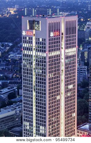Ubs Bank Skyscraper In Frankfurt