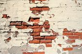 Weathered Brick Wall Background poster