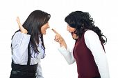 Women In Funny Confrontation
