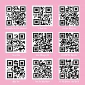 stock photo of qr codes  - Love QR codes - JPG