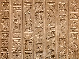 picture of hieroglyphic  - Egyptian hieroglyphs on the wall - JPG
