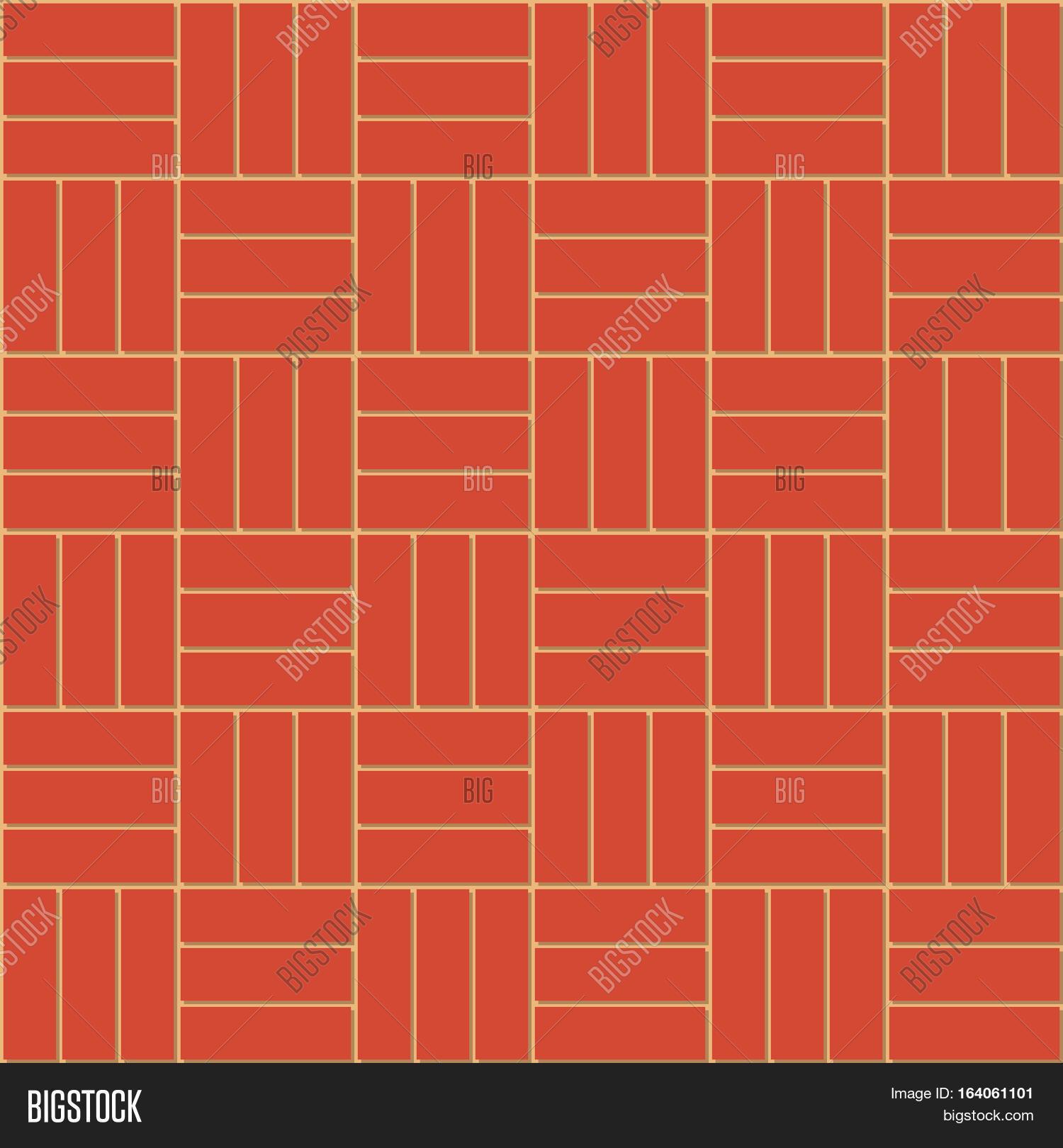 Basket weave brick pattern - Cartoon Cute Decorative Basket Weave Bond Of New Clean Red Brick Wall Vector Seamless Background