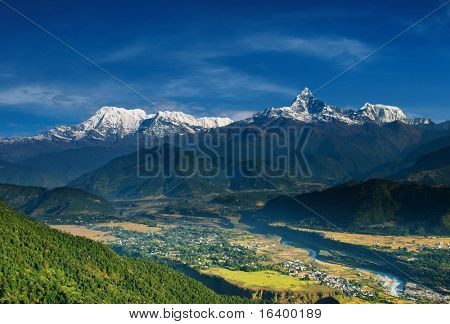 Annapurna massif, view from Sarangkot, Nepal