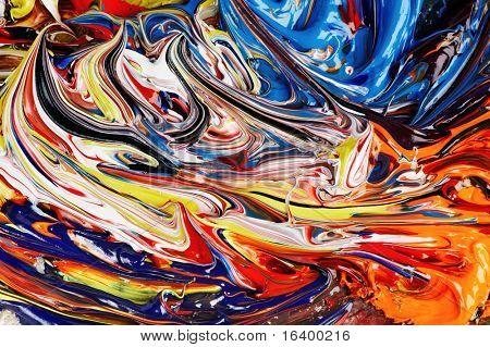 Antecedentes de la pintura de aceite mezclada
