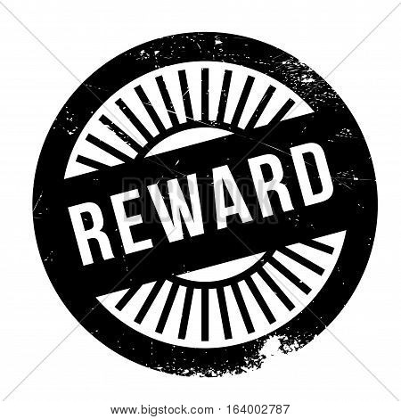 Reward stamp. Grunge design with dust scratches. Effects can be easily removed for a clean, crisp look. Color is easily changed.