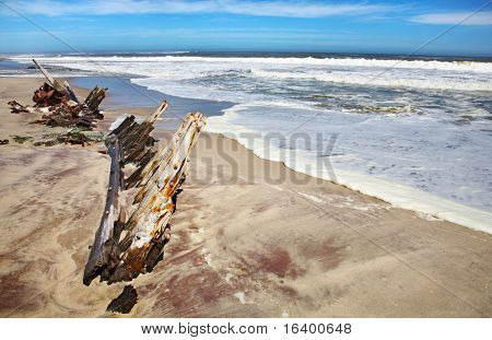 Ship remains, Skeleton Coast, Namibia