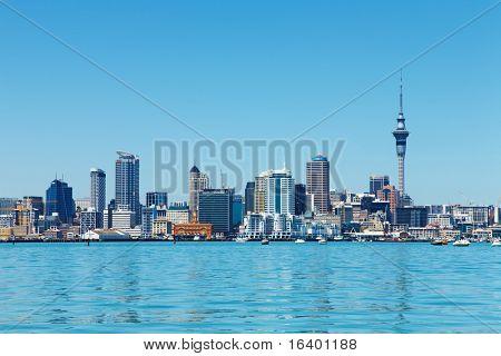 Auckland, Nueva Zelanda - 14 de noviembre de 2008: Centro de Auckland mayor ciudad de Nueva Zelanda