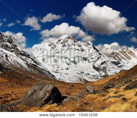Mountain landscape, Annapurna South, Himalaya, Nepal
