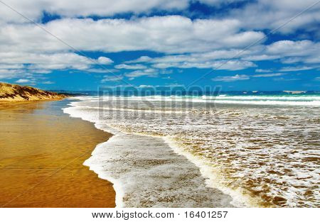 Famous Ninety Mile Beach, New Zealand