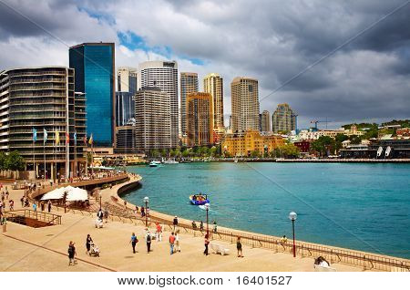 Sydney Harbor and city skyline, Australia
