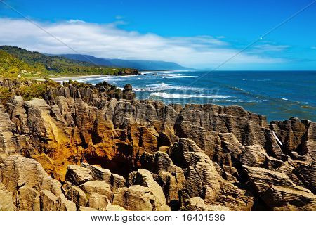 Punakaiki Pancake Rocks, West Coast, New Zealand