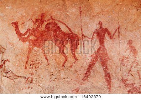 Pinturas rupestres prehistóricas famosas de Tassili N'Ajjer, Argelia