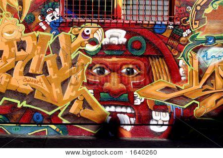 Aztec Calendar Graffity
