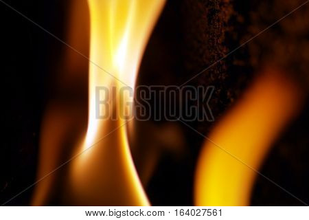 the flame in the furnace when burning wood pellets