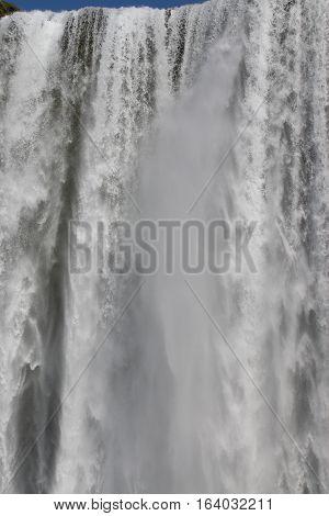 Skogafoss Waterfall on Skoga River in South Iceland