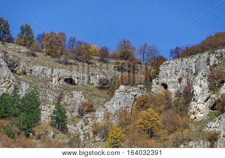 Magnificent Lakatnik rocks in full height, Iskar river defile, Sofia province, Bulgaria