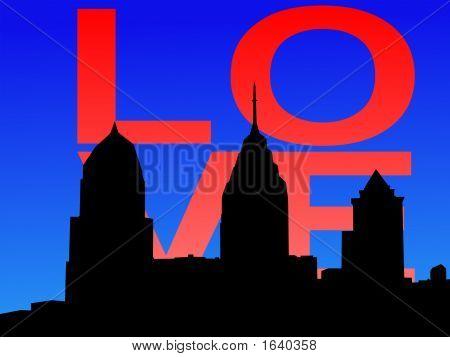 Philadelphia Skyline With Love