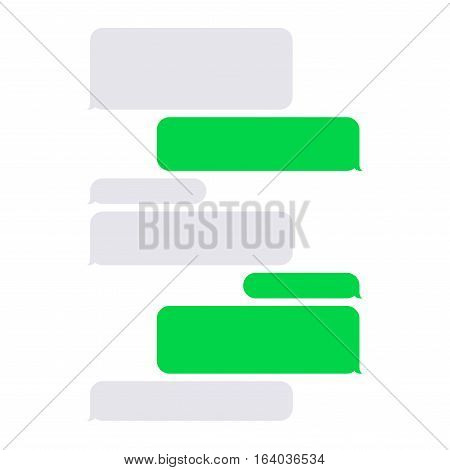Short Message Service SMS Blank Bubbles Set. Vector illustration