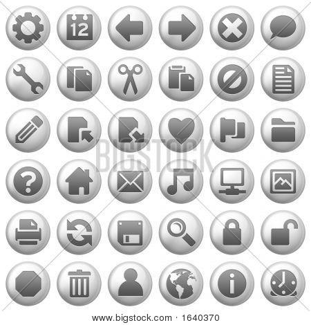 Iconos de metales redondos