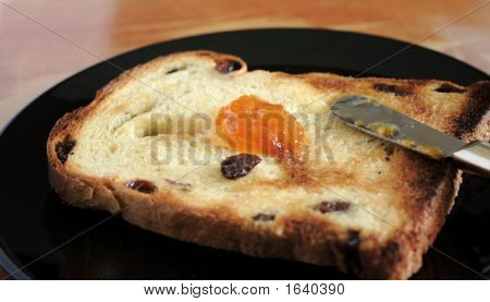 Raisin Toast With Jam 1