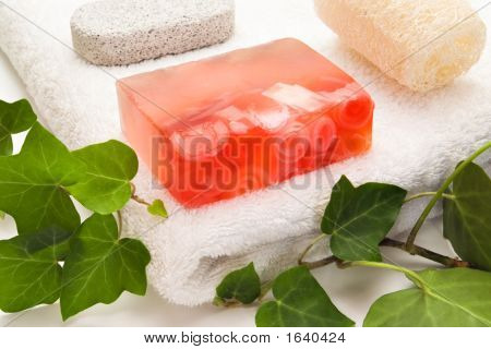 Soap Rose And Bath Items
