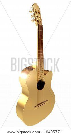 Golden Acoustic Guitar