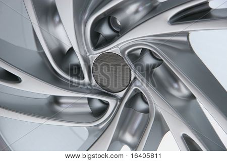 Close up wheel of a spots car