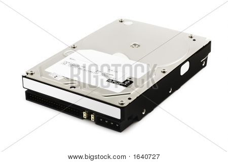 Hard Disk Drive On White (Include Clipping Path)