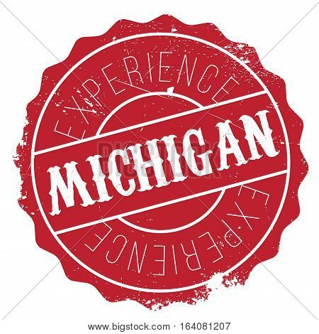 Michigan stamp. Grunge design with dust scratches. Effects can be easily removed for a clean, crisp look. Color is easily changed.