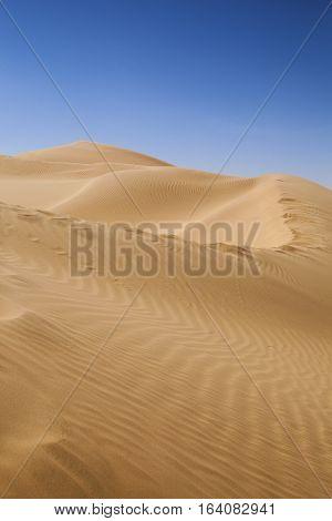 The empty quarter and sand dune in Oman old desert Rub al Khali